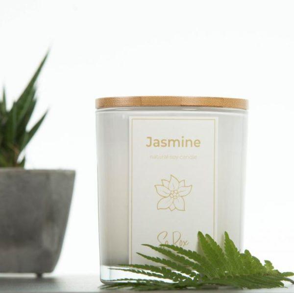 naturalna sojowa świeca zapachowa jaśminowa