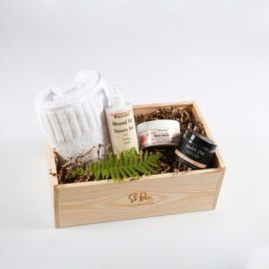 domowe spa migdałowy zestaw prezentowy pod prysznic