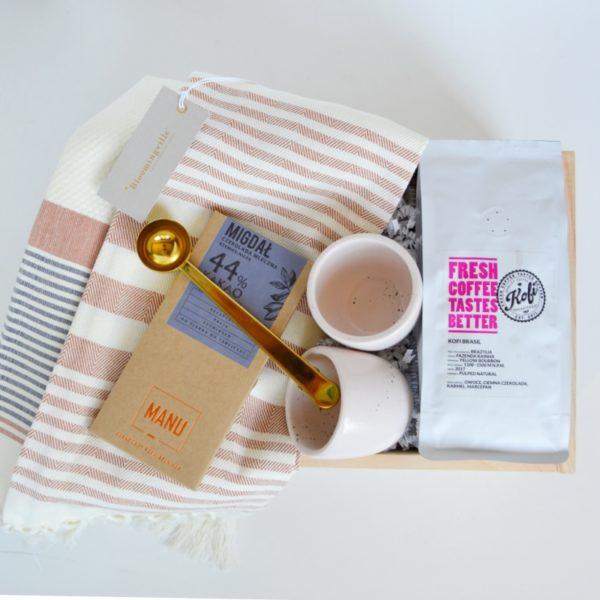 zestaw kawowy na prezent zestaw filiżanek na prezent box filiżanki na prezent