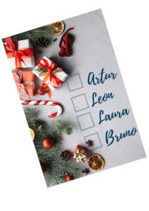 świąteczna checklista prezenty pod choinkę