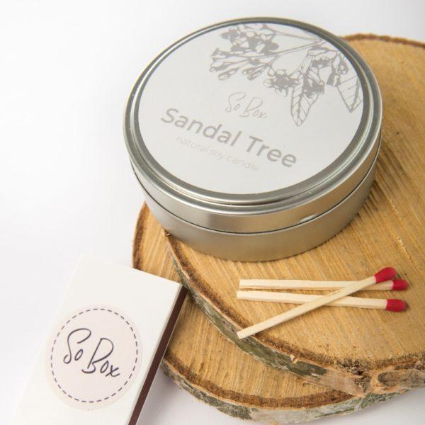 sojowa świeca zapachowa drzewo sandałowe ekologiczna świeca sojowa