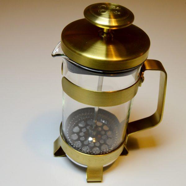złoty french press do kawy oryginalny spieniacz mleka
