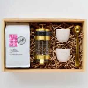 Zestaw dla kawosza So Box prezentowy dla kawosza golden coffee box