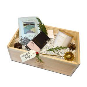 herbaty zestawy prezentowe gift box z herbatą i świecą zapachową