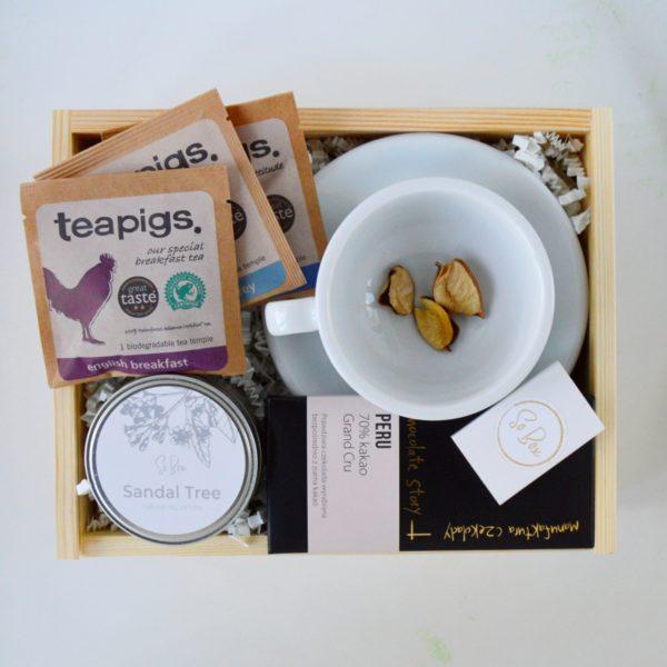 Zestaw z filiżanką Herbata na prezent dla niej