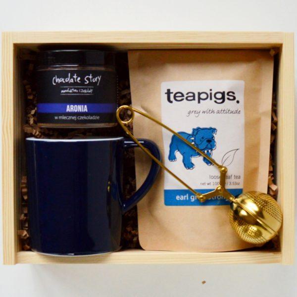 earl grey zestaw herbat na prezent kubek zestaw prezentowy box herbaciany