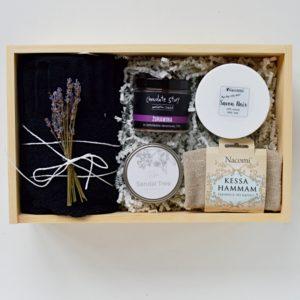 zestaw spa na prezent savon noir rytuał Hammam domowe spa box kosmetyczny