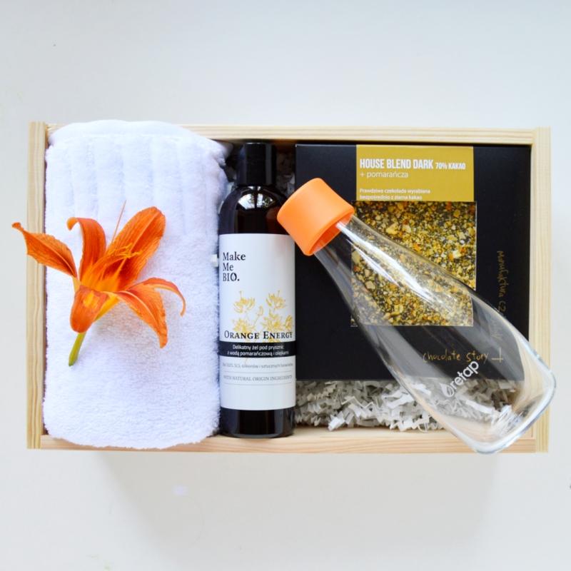 orange energy ekologiczny gift box o smaku i zapachu pomarańczy
