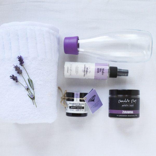 prezent kosmetyczny purple box