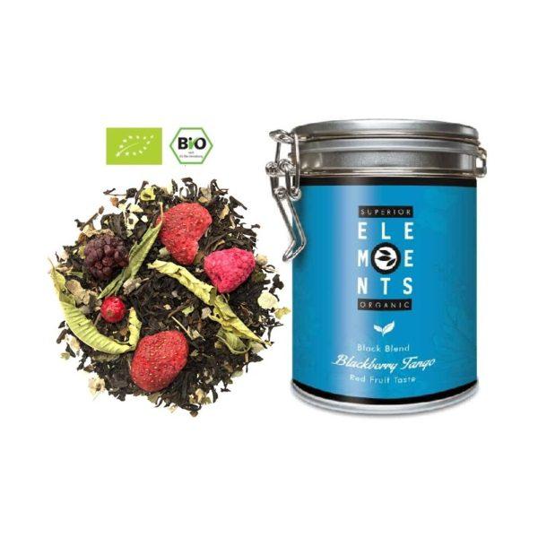 ekologiczna herbata na prezent w puszce blackberry tango