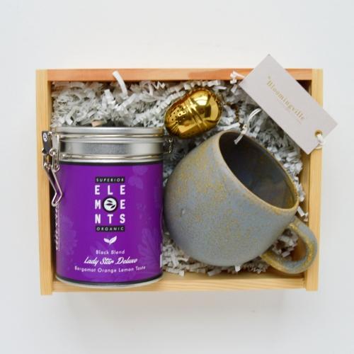 zestaw prezentowy box tea time herbaciany preznent na dzień matki