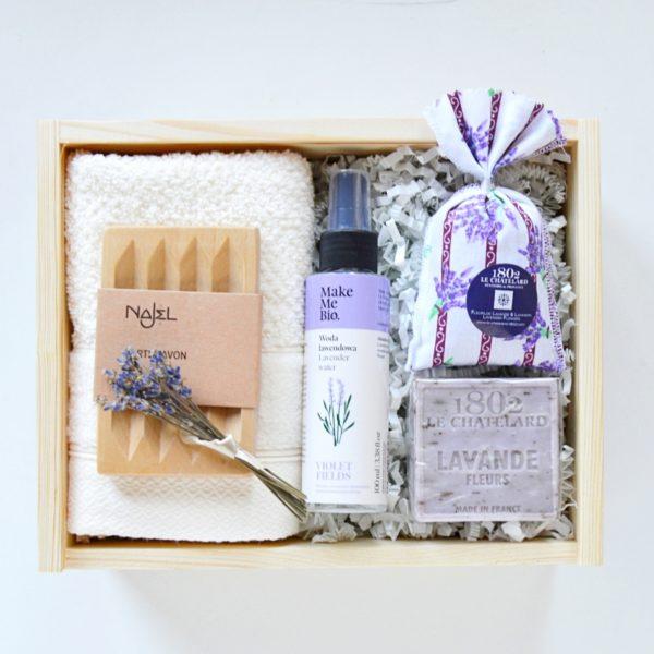 kosmetyczny zestaw lawendowy na prezent So Box
