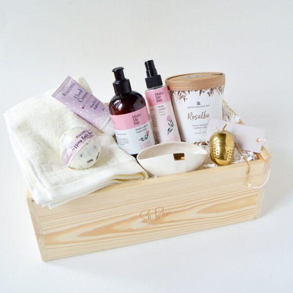 zestaw kąpielowy na prezent dla niej domowe spa gift box