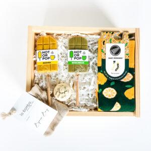 Gift Box ze skarpetkami Lemons prezent dla niej lub dla niego